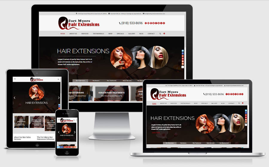 FortMyersHairExtensions.com Home Page