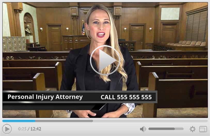 Personal Injury Attorney Spokesperson Video