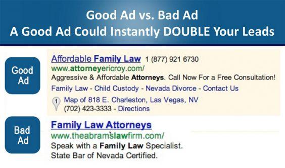 Good vs. Bad PPC Ad