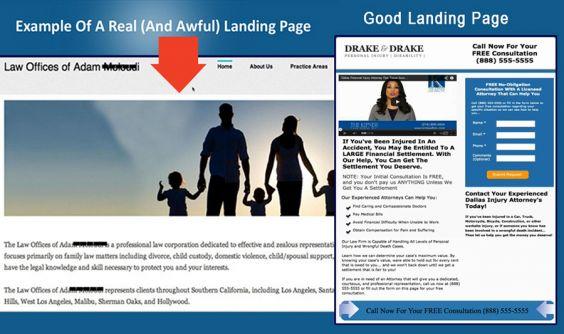 Good vs. Bad Landing Page