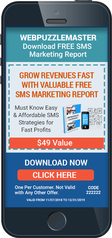 SMS Coupon with Free Report Download