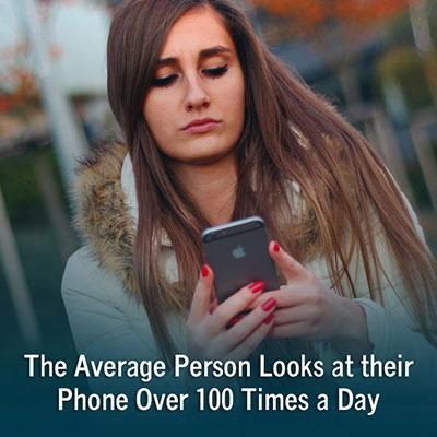 SMS Statistics Woman on Phone