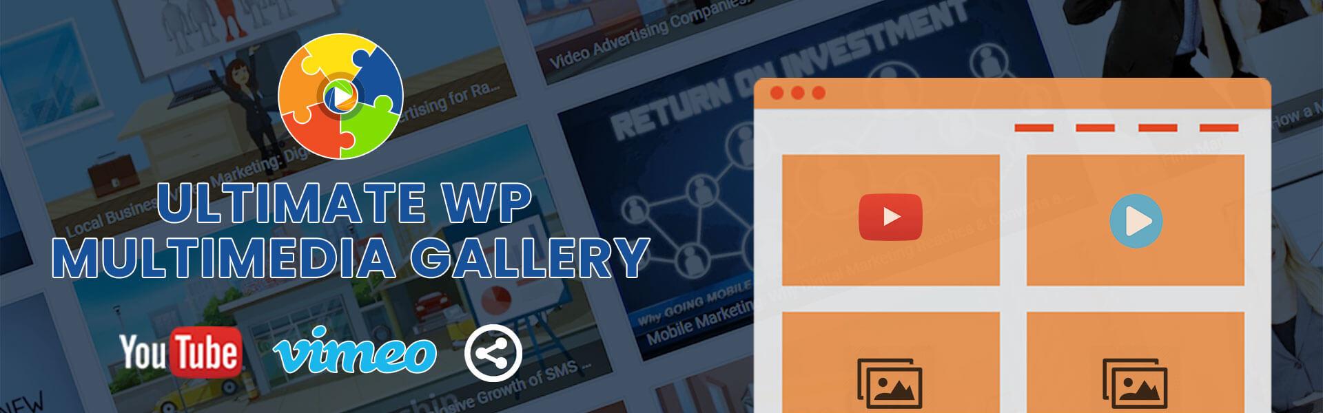 Ultimate WP Multimedia Gallery Banner