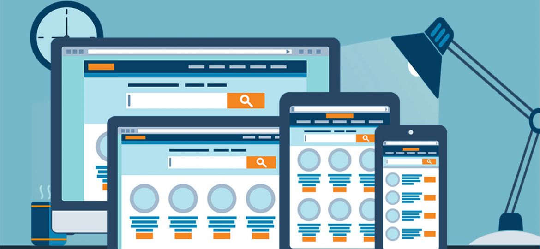 Responsive Website Design Schematic Illustration