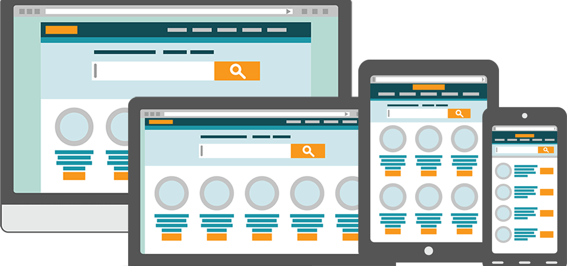 Responsive Web Design Schematic