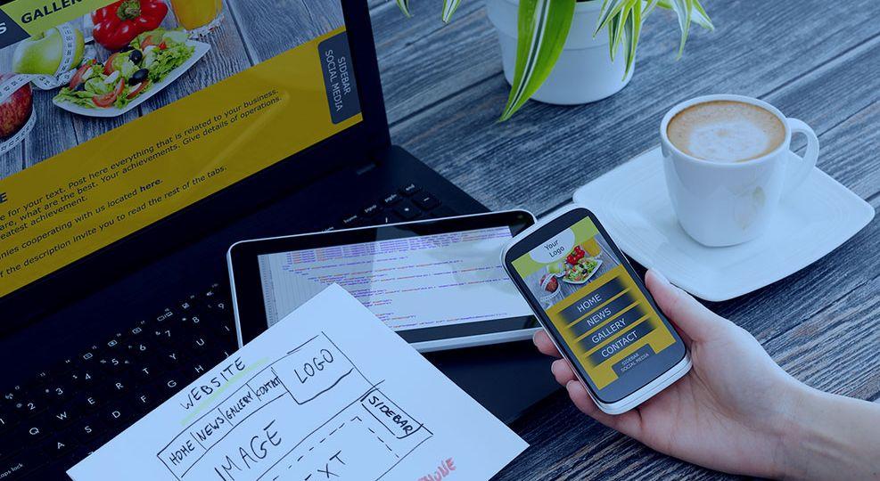 Web Design on Desk Artwork