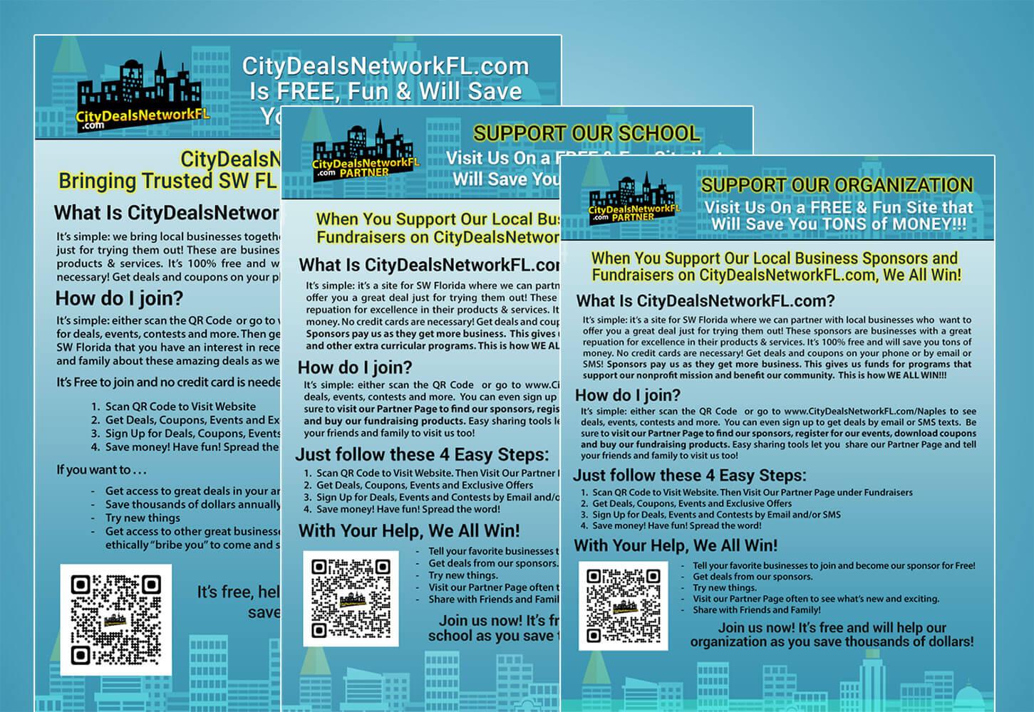 City Deals Network Promotional Flyers