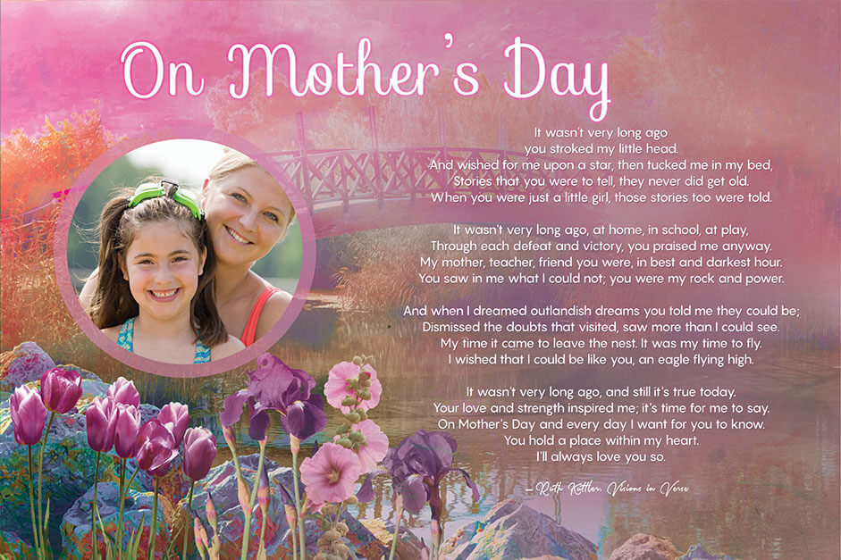Art Poetry eCommerce Mother's Day Design Product