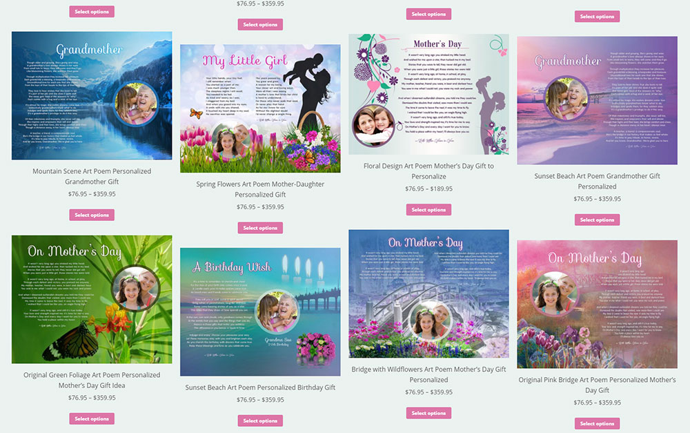 Art Poetry eCommerce Products