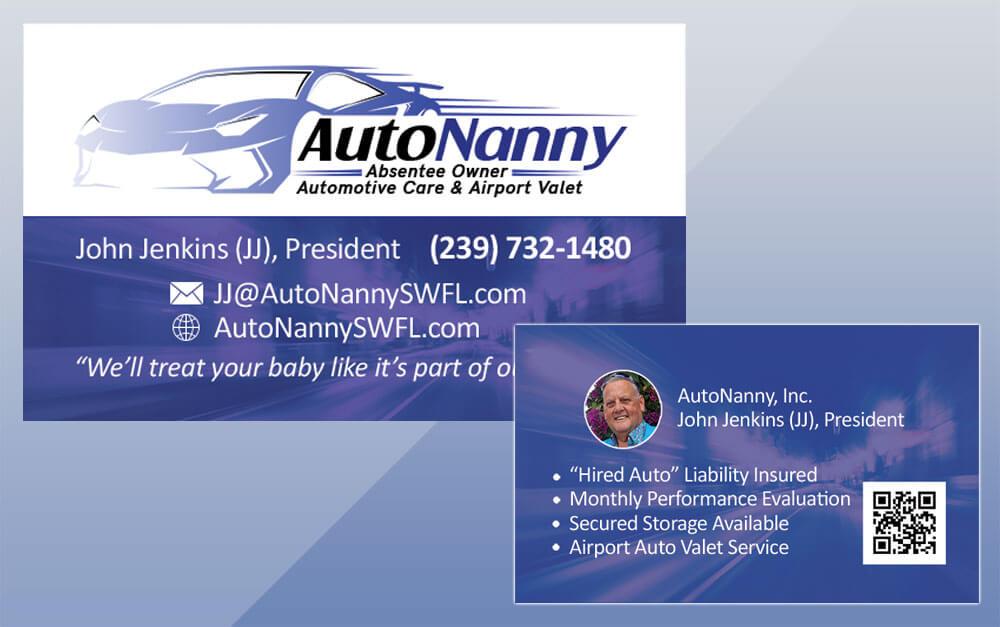 Auto Nanny Project Business Card Design