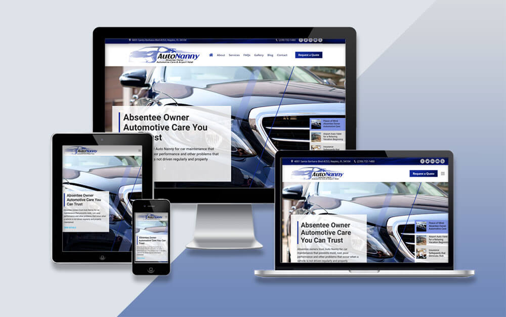Absentee Owner Auto Services Website Project
