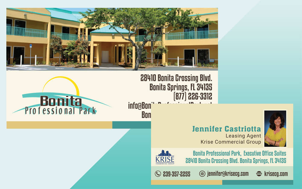 Professional Park Project Business Card Front and Back Design