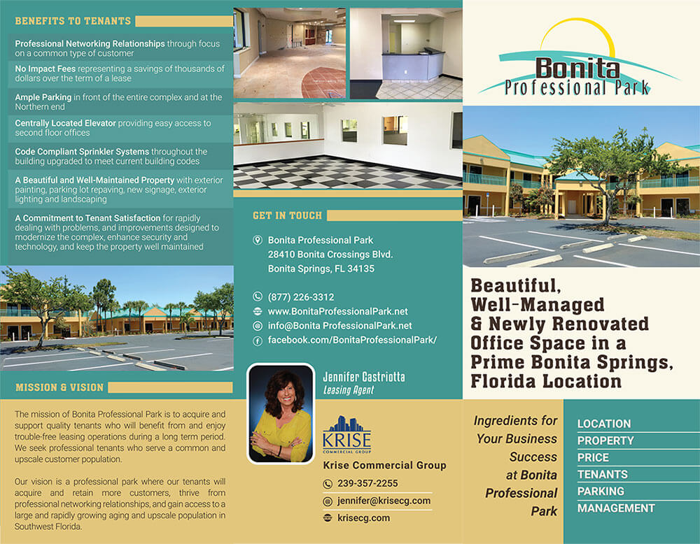 Professional Park Project Launch Trifold Brochure Outside
