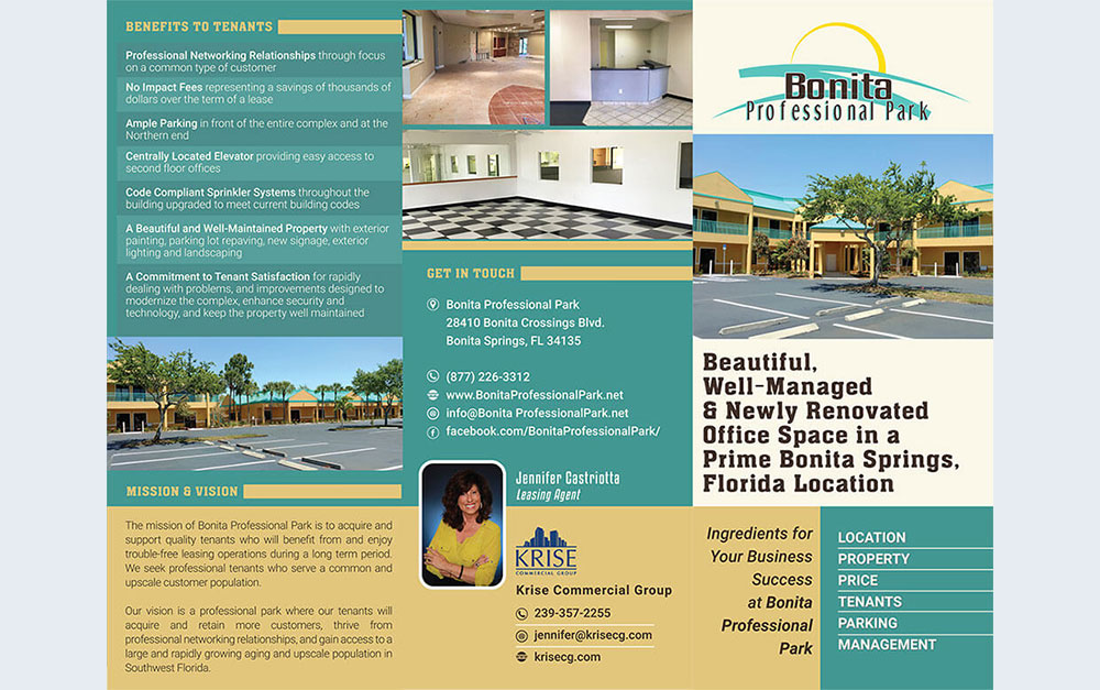 Professional Office Park Trifold Brochure Outside