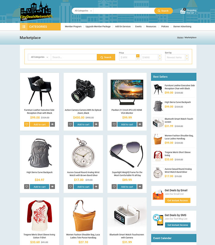 Local Business Deal Event Marketplace Directory Marketplace Section