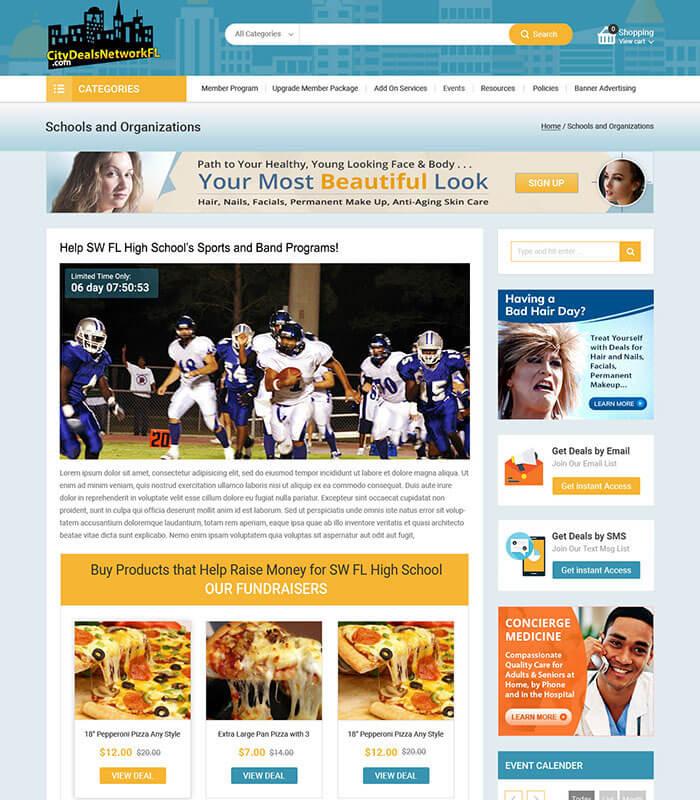 City Deals Network Project Web Page Design for Partner Program