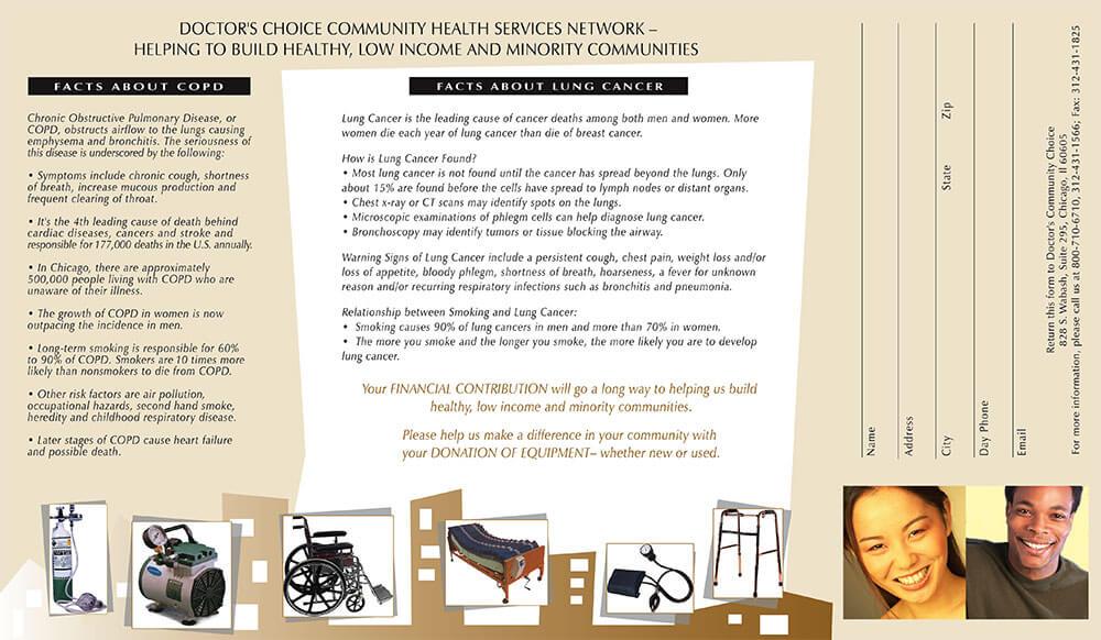 Doctors Choice Project Brochure Inside Design