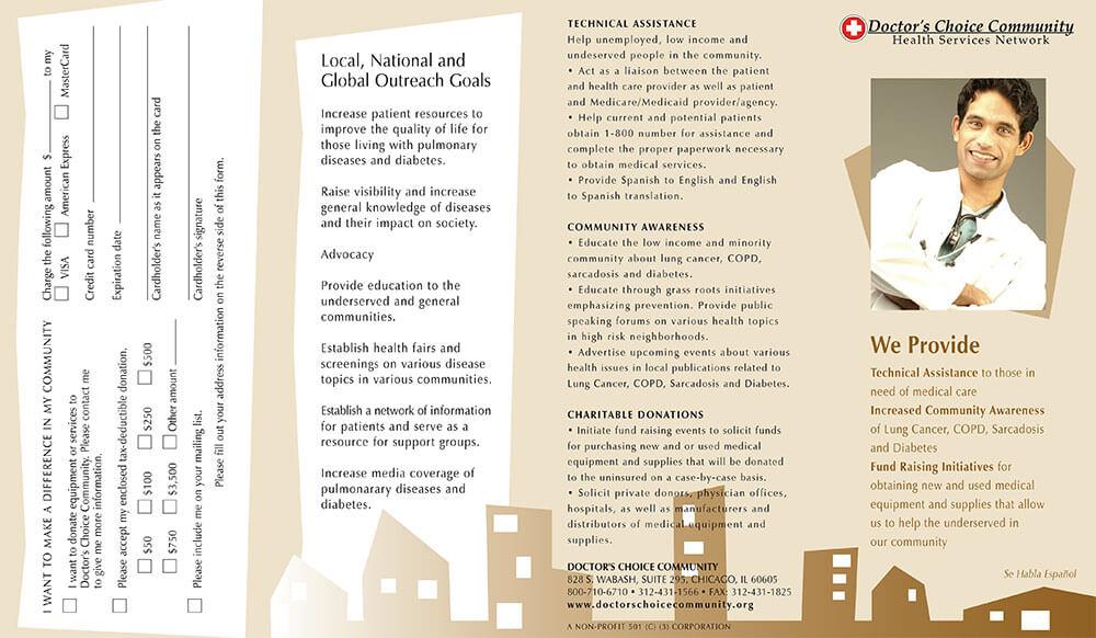 Doctors Choice Project Brochure Outside Design