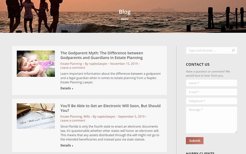 Estate Attorney Website Blog