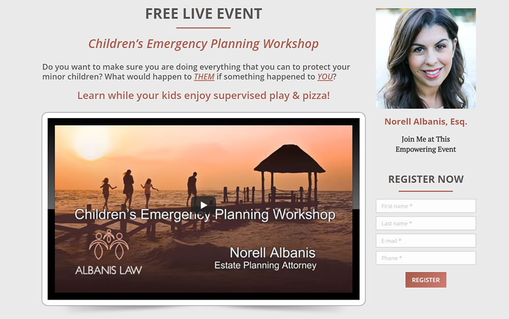 Estate Attorney Website Event