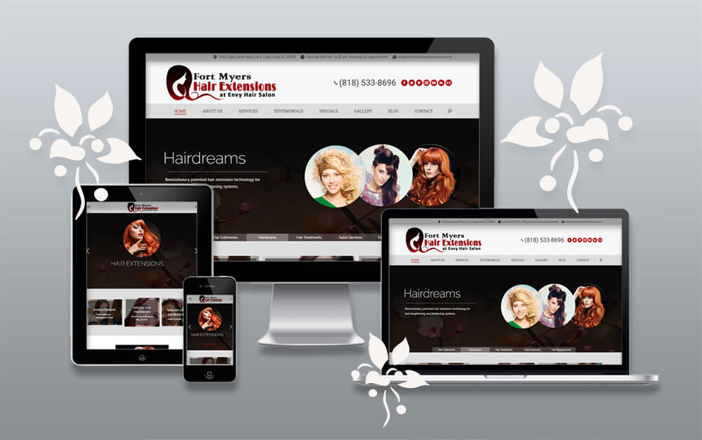 Full Service Hair Salon Website Project