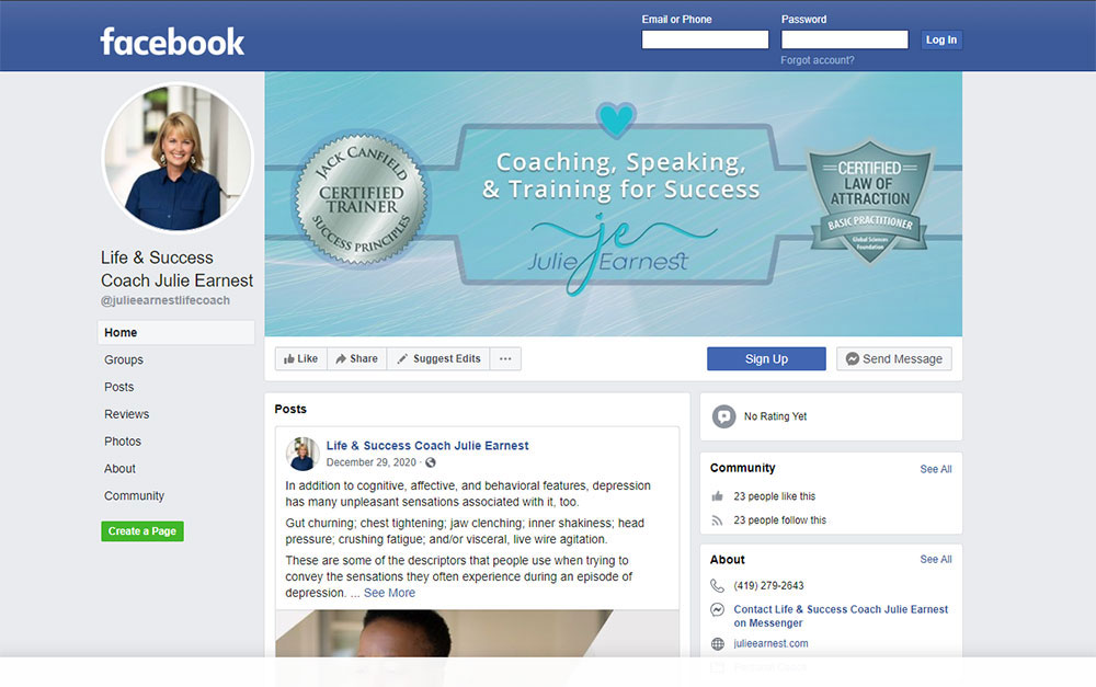 Life Coaching Project Facebook Cover