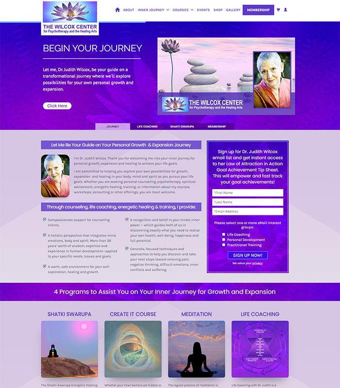 Holistic Healing, Coaching Website Home Page