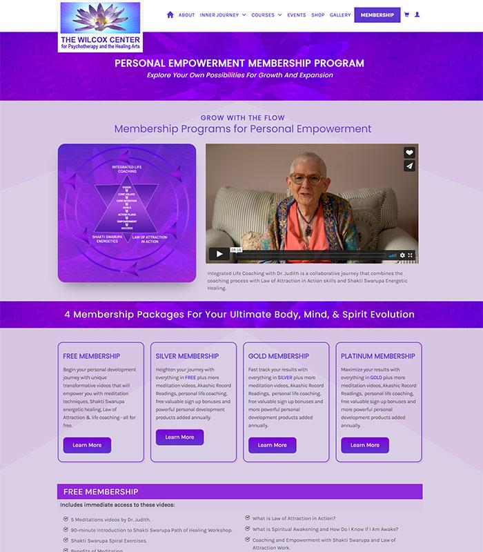 Holistic Healing, Coaching Website Member Program