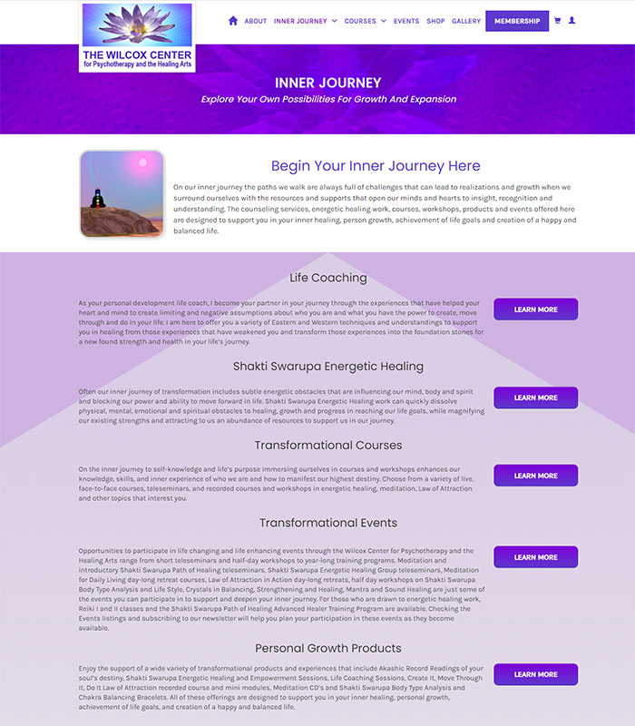 Holistic Healing, Coaching Website Services